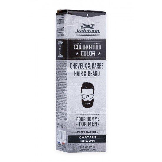 Краска для бороды и усов Hairgum, коричневая